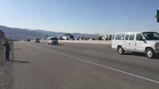 Presidential Motorcade through Kaysville