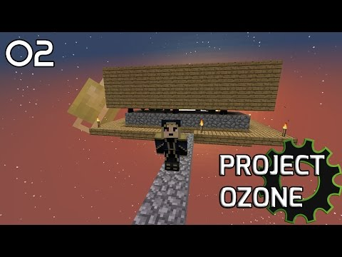 [02] SIMPLE MOB FARM! - Project Ozone (HQM Sky Block Mod Pack)