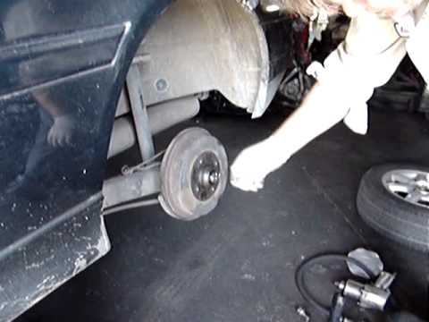 1999 VW Cabrio rear wheel bearing replacement