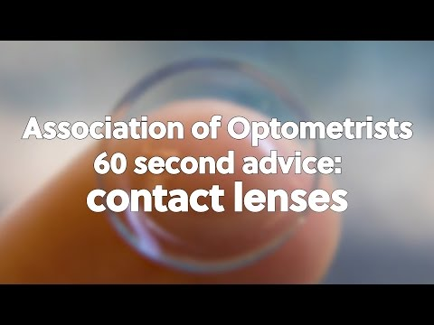 60 second advice: contact lenses