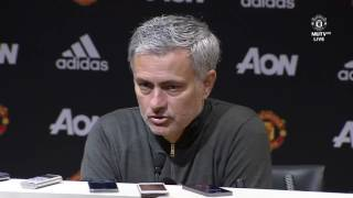 FANS MUST DO MORE ON SUNDAY Jose Mourinho Post Match Conference Manchester United 2 0 Hull