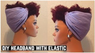 DIY HEADBAND WITH ELASTIC BACK