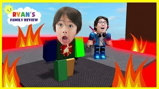 ROBLOX Floor is Lava! Let's Play Family Game Night with Ryan's Family Review | Kholo.pk