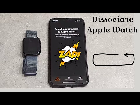 Dissociare Apple Watch da iPhone