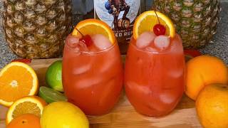 THE HURRICANE DRINK||EASY ALCOHOLIC DRINK|| HOW TO MAKE A HURRICANE|| QUARANTINE || ADULT COCKTAILS