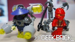 #GeekBrick Крутые обвесы для фигурок Ninjago (LEGO САМОДЕЛКИ)