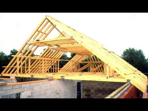 Установка стропил мансардной крыши, своими руками. Серия №16