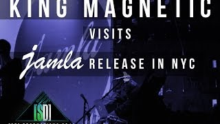 King Magnetic visits Jamla release in NYC.