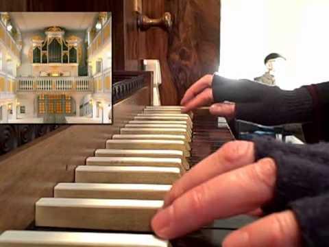 Dr. Jeannine Jordan plays JS Bach's Nun freut euch on the historic Silbermann organ in Rheinhardtsgrimma, Germany