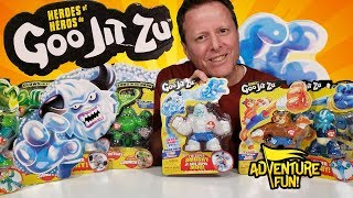 """15 Heroes of Goo Jit Zu Including the Ultra Rare """"Frostbite"""" Adventure Fun Toy review by Dad!"""