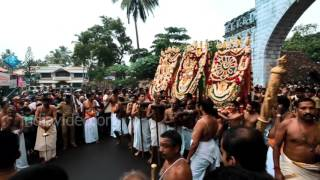 Ceremonial Arattu procession of Lord Padamanbha