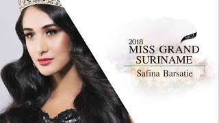 Safina Barsatie Miss Grand Suriname 2018 Introduction Video