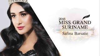 Safina Barsatie Miss Grand Suriname 2018 Introduction Video