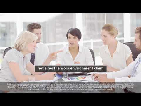 What Are the Elements of a Hostile Work Environment Claim?
