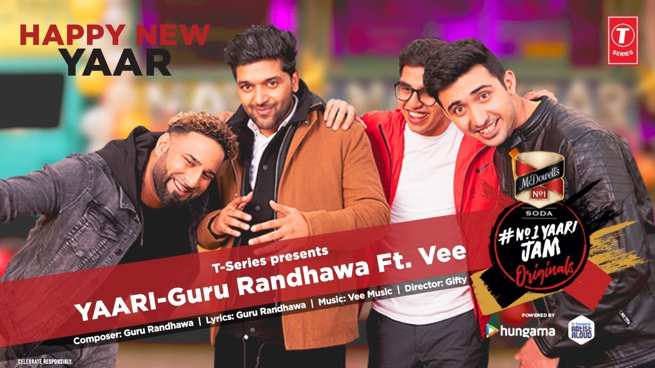 Yaari lyrics song | Guru Randhawa Ft. Vee