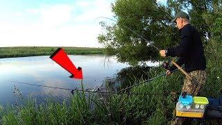 На этом месте лещ ловится всегда. Рыбалка на фидер.
