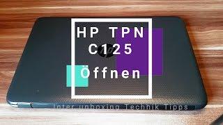 HP C125 Öffnen Um eine SSD einzubauen oder Speicher.