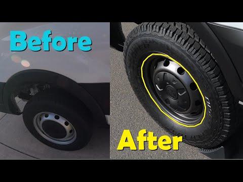 MTB Plan B - Van life...All terrain tires and freshly painted wheels on 2019 Ford Transit!