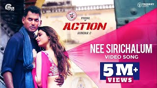 Action | Nee Sirichalum Video Song | Vishal Tamannaah | Hiphop Tamizha | Sadhana Sargam | Sundar.C