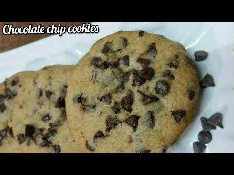 Chocolate chip cookies || oven and without oven recipe || #cookies