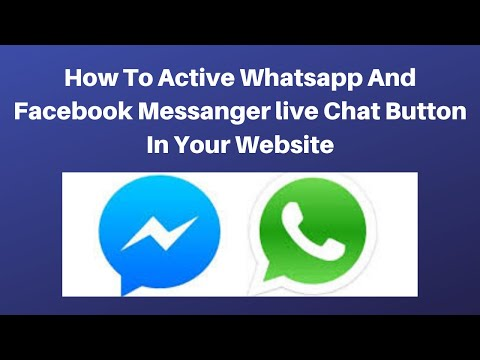 How to active whatsapp and facebook messanger live chat button in your website