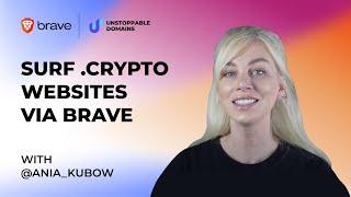 Surf .crypto Decentralized Website via Brave Browser