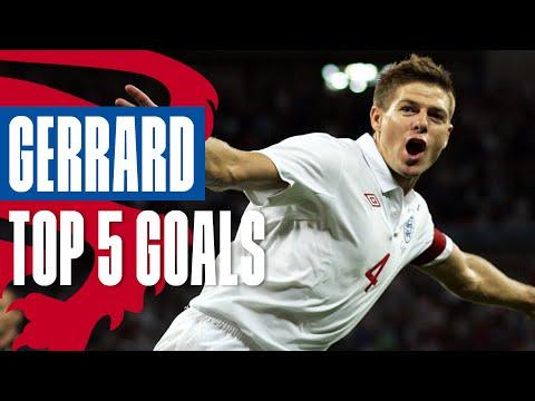 Steven Gerrard's Top 5 Goals | Screamer Against Germany! | England