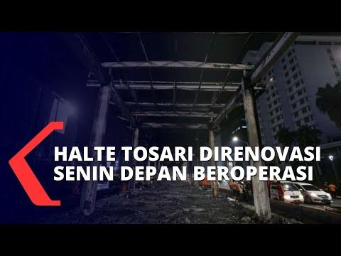 halte transjakarta rusak pasca demo penolakan uu cipta kerja diperbaiki