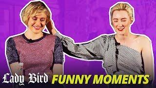 Saoirse Ronan Cute and Funny Moments - Lady Bird (Golden Globe)