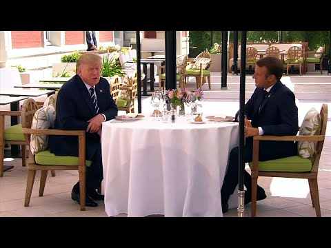 US President Donald Trump and French President Emmanuel Macron had a private lunch before the start of the Group of Seven summit in Biarritz on Saturday. (August 24)