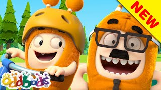 Oddbods | Slick Learns to Ride a Bike With His Dad | NEW Episode | Funny Cartoon thumbnail