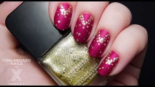 Gilded Velvet Holiday Nail Look By Chalkboard Nails | Sephora