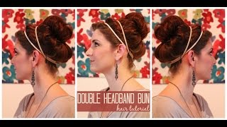 Double Headband with Poof Hair Tutorial