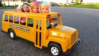 SCHOOL ! Elsa & Anna toddlers – Little Anna afraid of Bully - Math problems - teacher Barbie
