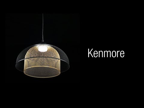 Video for Kenmore Black and Gold One-Light LED Pendant