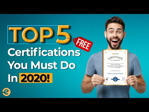 Top 5 Free Certification you must do in 2020 |Eduonix - YouTube