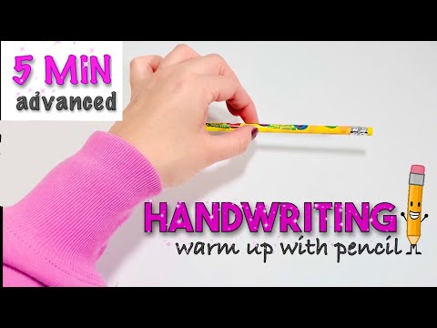 Screenshot of video: Handwriting warm up exercises