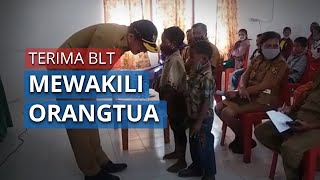 Orangtua Merantau, Belasan Anak di Tapal Batas RI-RDTL Wakili Terima BLT Dana Desa