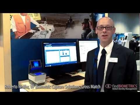 Cross Match Demonstrates Guardian Fingerprint Capture Device at ...