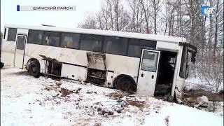 На дороге Шимск – Великие Луки перевернулся пассажирский автобус