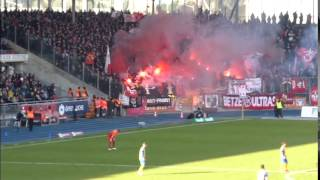 preview picture of video 'Eintracht Braunschweig vs 1.FC K´Lautern - Saison 2014/2015 - Impressionen incl. Pyro!'