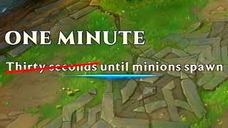 1 MINUTE UNTIL MINIONS SPAWN?! - Announcer Bug?!