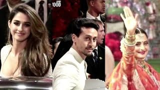 Tiger Shroff, Disha Patani, Rekha, Jhanvi Kapoor At Isha Ambani - Anand Piramal Grand Wedding