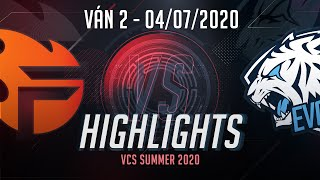 Highlights EVS vs FL [VCS 2020 Mùa Hè][04.07.2020][Ván 2]