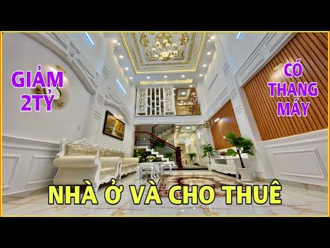 Bán nhà Gò Vấp | Nhà mặt tiền vừa ở vừa kinh doanh giảm 2 tỷ 5 lầu có Thang Máy tặng full nội thất