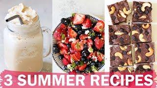 3 MUST-MAKE SUMMER RECIPES   vegetarian + gluten free   collab with Becca Bristow