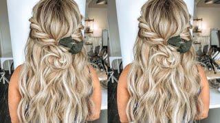 #Bridalhair | Easy Half Up Half Down Braided #Bohemianhair Wedding HairStyle | #2021 | HairByKaytlyn