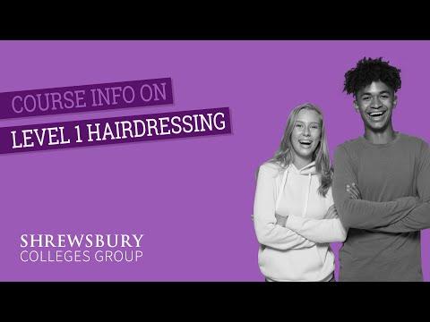 Level 1 in Hairdressing - YouTube