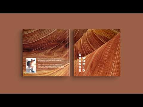 Inspiration pour la couverture de votre livre photo - 'Orange World'