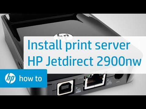 Installing an HP Jetdirect 2900nw Print Server | HP Printers | HP